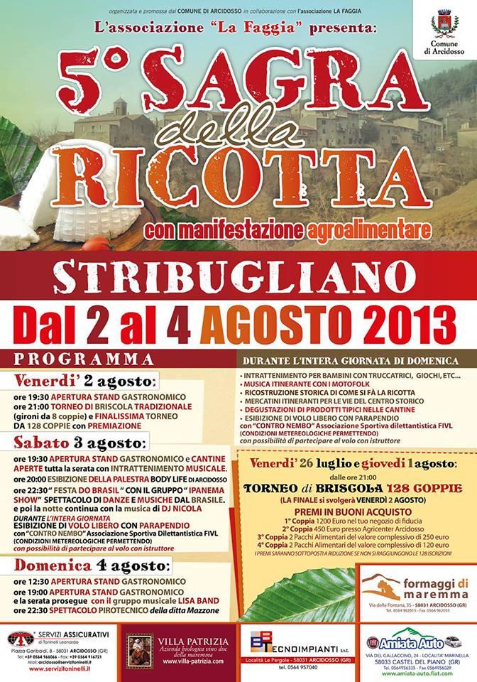Festa della Ricotta – 2-4 Agosto 2013